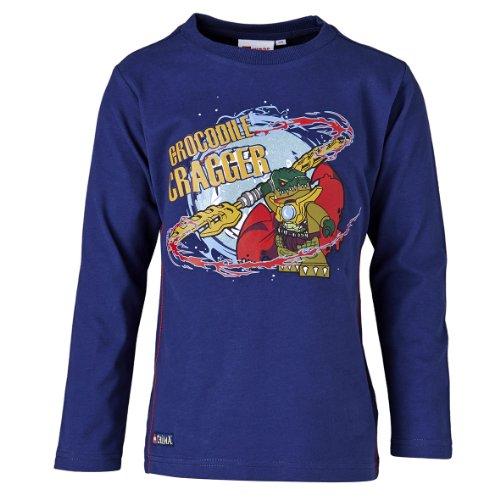 LEGO Wear Sweatshirt Col ras du cou Manches longues Garon - Bleu - Blau (581 DARK BLUE) - FR : 6 ans (Taille fabricant : 116)
