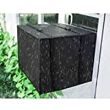 Oslimea Outdoor Air Conditioner Cover Window AC Cover with Adjustable Straps Bottom Covered (21.5' W x 15' H x 16' D)