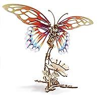 Ugears ユーギアーズ Butterfly バタフライ 木製 ブロック DIY パズル 組立 想像力 創造力 おもちゃ…