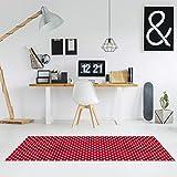 Comercial Candela Alfombra de Pasillo Vinilo Antimanchas, Lavable | Base PVC Antideslizante y Aislante Diseño Estrellas Color (Rojo, 52_X_250 CM)