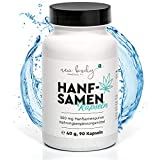new body® Hanfsamen Kapseln - 90 Stück - Alternative zu CBD Öl, Hanföl und Cannabis Öle - OMEGA...