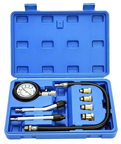 Kompressionstester für Benzin Motor 0-20 Bar oder 0-300 psi Verdichtungsmesser,Motor Kompression prüfen meßen Kfz M10 M12 M14 M18.
