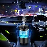Car Diffusers for Essential Oils,USB Car Oil Diffusers,Portable Car Essential Oil Diffuser with 7 LED Color Light,Mini Essential Oil Diffuser for Car,Office,Travel,Ultrasonic Auto Shut-Off (Black)