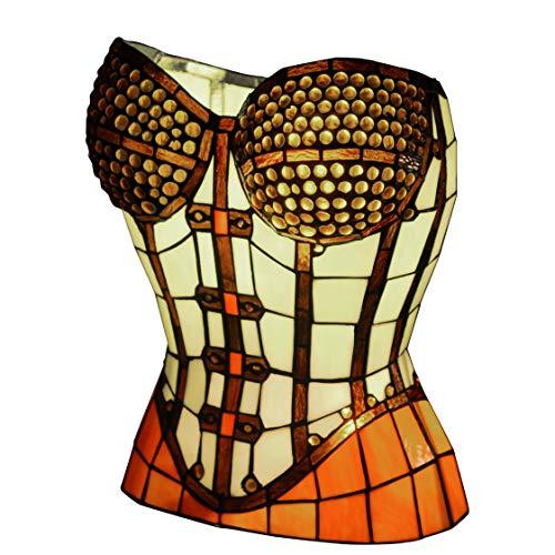 World Art TW60560 Lampes Style Tiffany, Multicolore, 40x31,5x27 Cm