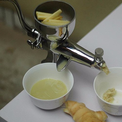 ZHAZHIQI Manuelle Saftpresse des Weizengras-Juicer-Edelstahls manuelle Fruchtgemüse-Handpressenpresse