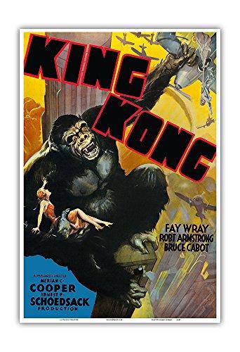 Pacifica Island Art King Kong-protagonizada por Fay Wray, Robert Armstrong, Bruce Cabot-Cartel c.1933 película de la película de la Vendimia-Arte Master Print-13inx19