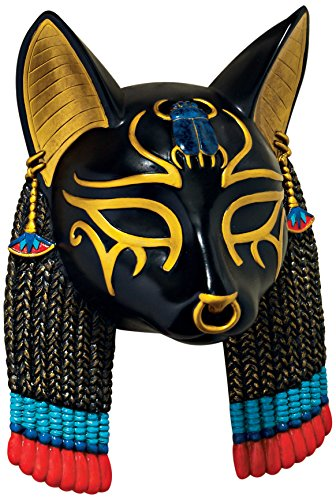 Design Toscano Maske einer altägyptischen Gottheit: Bastet