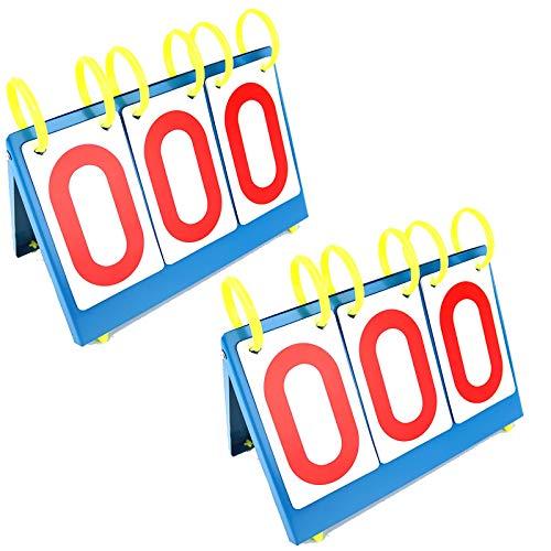LIUXING-Home Anzeigetafel Fußball-Anzeigetafel-Tisch-Scoring-Gerät Sportartikel Basketball-Spielanzeiger 3 (2) Indoor- und Outdoor-Sportanzeigetafel (Color : Blue, Size : 27x23x6.5cm)