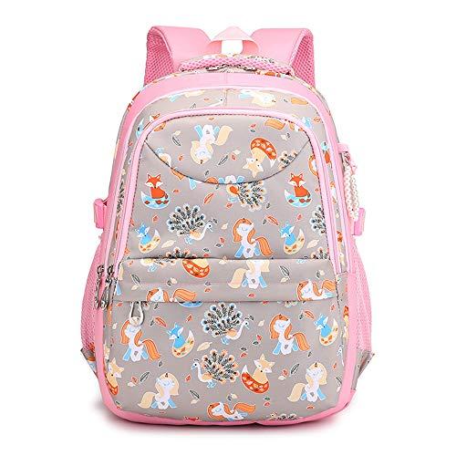 mochila para niños, mochila para niños, mochila escolar para niñas-gray