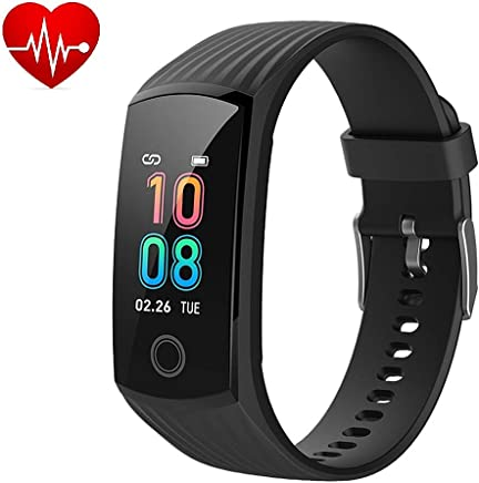Amazon.com: 2019 Color Screen H6 Smartwatch for Men & Women Waterproof Sports Watch Smart Wristband with Heart Rate Blood Pressure Monitor Fitness Activity ...