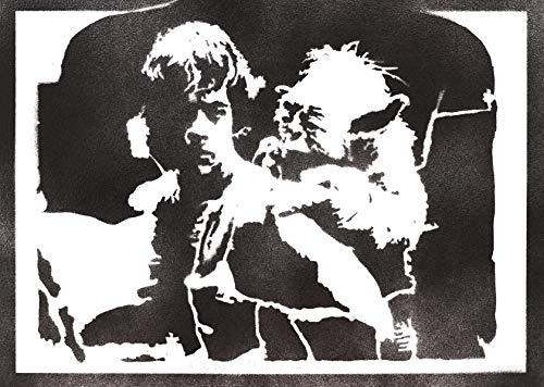 Póster Luke Skywalker y Yoda STAR WARS Grafiti Hecho a Mano - Handmade Street Art - Artwork