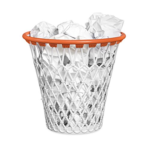 Balvi Basketball-Mülleimer Mit lustigem Basketball-Design. Farbe: weiß Aus robustem Kunststoff.