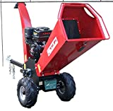 Wood Chipper Cutter Leaf Mulcher 5 Inch Capacity, Steel Blades, Adjustable Deflector Vane Discharge Chute, 15HP Gas Power 4 Stroke Motor 420cc 1 Year Warranty Model DR-CS-15HP