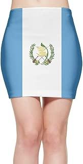 ChunLei Tight Mini Skirt Guatemala Flag Women's High Waist Short Skirt