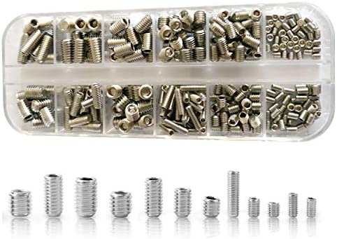 Persberg 304 Pcs Allen Head Socket Hex Grub Screw Assortment Kit Including 12 Sizes M3 M4 M5 product image