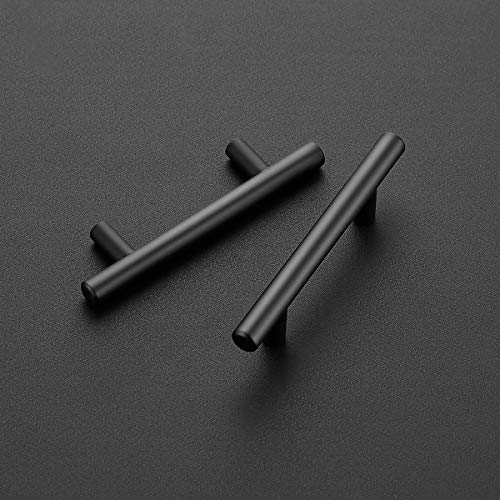 "30 Pack | 5'' Cabinet Pulls Matte Black Stainless Steel Kitchen Drawer Pulls Cabinet Handles 5""Length, 3"" Hole Center"
