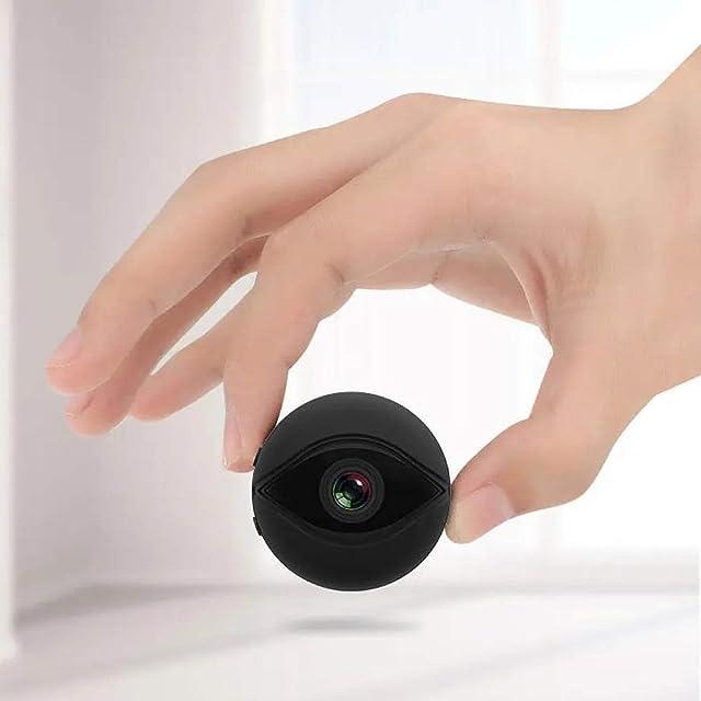 Candicely Cámara de Acción HD de Imagen 360 ° de rotación del Movimiento del Ojo Mini HD 1080P (Color : Black Size : One Size)