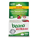 beano Ultra 800 Gas Prevention, Food Enzyme Dietary Supplement, Help Digest Gas-Causing Foods, 100 Tablets