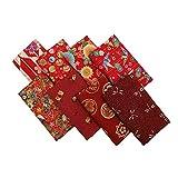 ChuanShui 8 Stück 100 % Baumwolle Quiltstoff Bündel rot