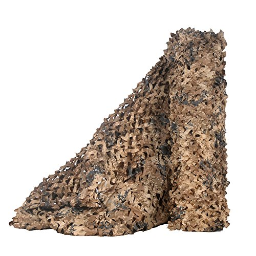 LOOGU Bulk Rolls of Camouflage Netting for Photography Background Camo Decorative Net and Hunting Blinds (Desert Digital, 1.5x2M=5x6.6ft)