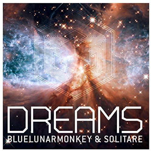 Blue Lunar Monkey & Solitare