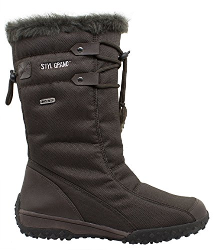 � Apres Grand Size8 Ski Brown Uk sporting women Boots Lady Snow � Styl 9ID2WEH