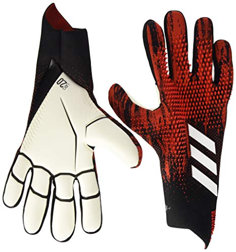 adidas PRED GL PRO Soccer Gloves, Black/Active red, 11.5