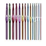 BJHBLVJK 14PCS / Set Ganchillo Crochet Multi-Color Aluminium Needles Crochet...
