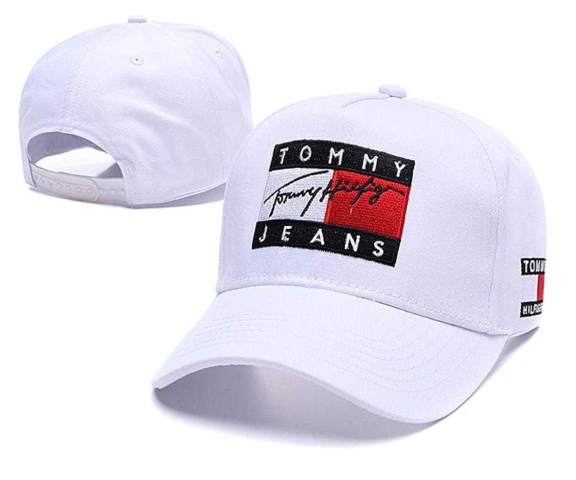鋭くチーム特定のキャップ tommy帽子 ファッション アウトドア ニセックス 野球帽 通気 アウトドアハット 男女兼用 調整可能