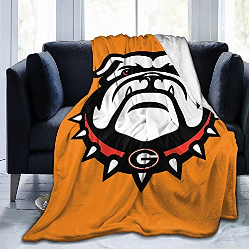 Georgia Spg Bulldog - Manta de franela para sofá, sala de estar, dormitorio