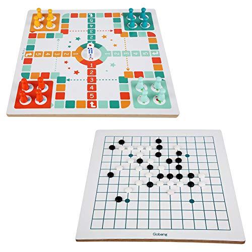 litty089 Laberinto Puzzles 2 en 1 escalera de ajedrez voladora Gomoku juego interactivo para niños, juguete educativo de ajedrez volador + Gobang