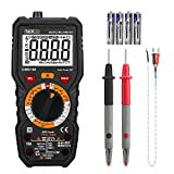 TACKLIFE Multimeter, TRMS 6000 Counts Auto-Ranging Digital Volt Meter with Measuring Voltage, Current, Resistance, Capacitance, Temperature, Continuity, Frequency and Diode, Transistors - DM01M
