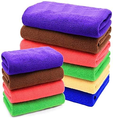 YJLGRYF Tücher Reinigungsbedarf Küchen Rags.Handtücher Geschirrtücher Abwischen Tabelle.Fiber Scheuern Tuch.Reinigungstuch-verdickte Zufällige Geschirrtuch (Color : Large Random 10)