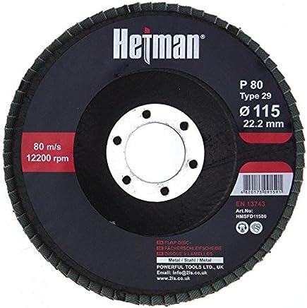 HETMAN Lot de 10 Disques 115 mm Grain 80 à lamelles Marron ponçage Mop Assiettes Disque abrasif à lamelles