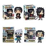 QWRT 4 Unids / Set 10 Cm Figuras Pop Naruto Kakash Sasuke Kakashi Sharingan Itachi Madara Muñecas De Vinilo Figura Modelo Juguetes para Niños Niños