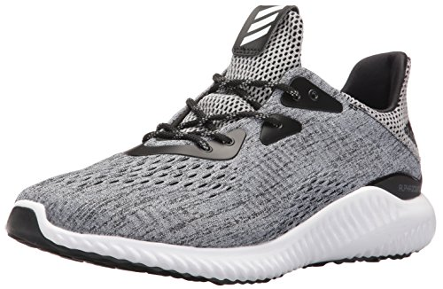 adidas Men's Alphabounce em m Running Shoe, Black/Grey Four/White, 9.5 Medium US