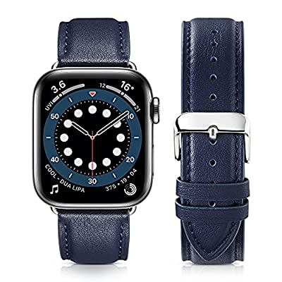 Amazon - 50% Off on Compatible with Apple Watch Band 42mm 44mm,  Genuine Leather Band