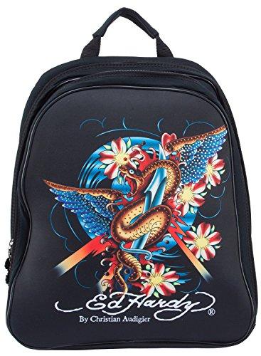 Ed Hardy Nina Snake Computer Case Notebook Backpack - Black