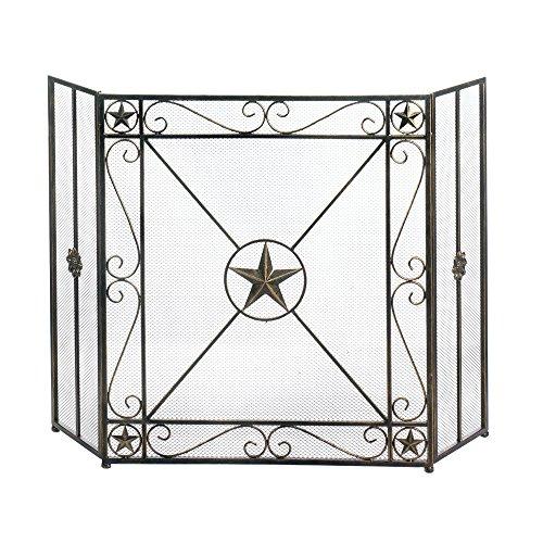 Western Star Iron Fireplace Screen
