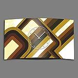 Dixtime 3DS-0164 - Orologio da parete in stile retrò anni '70, design moderno, silenzioso, senza ticchettio