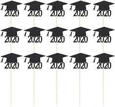 Toyvian 15PCS 2020 Congrats Graduation Cake Topper, Class of 2020 Graduate Party Decorations Supplies (Black)