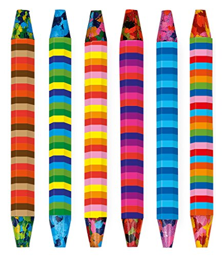 Moses 26147 Wachsmaler Multi-Color   Mehrfarbige Wachsmalstifte   Im 6er Set