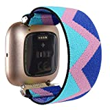 Watch Band Replacement Compatible with Fitbit Versa 2, Fashion Women Elastic Watch Band Compatible with Fitbit Versa/Versa 2/Versa Lite