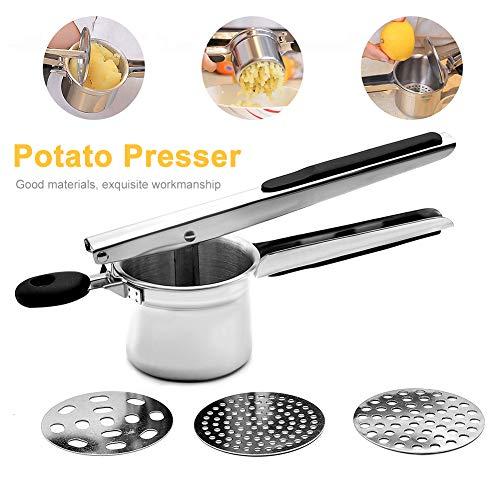 Centraliain Potato Ricer Kitchen Multifunktionaler Edelstahl Potato Masher Ricer Mit...