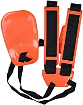 KISSTAKER Trimmer Shoulder Strap, Trimmer Harness Strap Double Shoulder Mower Nylon Belt with Easily Adjustable for Brush Cutter Garden Lawn