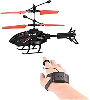 VEEBA Helicopter with Radio Remote Control and Hand Sensor Charging Helicopter 2 in 1 Toys with 3D Light Toys for Boys Kid...