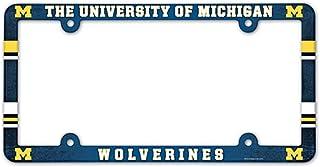 NCAA Full Color Kunststoff Nummernschild Rahmen, Michigan Wolverines