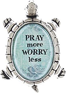 Ganz Lucky Turtle Figurine - Pray More Worry Less