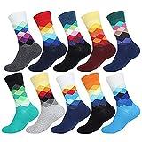 ValueHall 5 Pares Hombres Mujeres Estampados Calcetines de Algodón Transpirable Moda Calcetines de Colores Hombre y Mujer E611-1