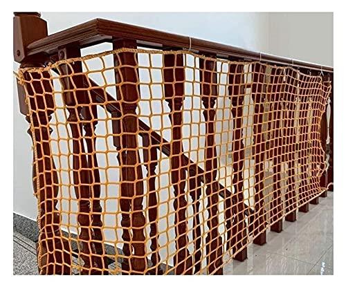 malla Escaleras infantiles Red de seguridad amarillo de la cuerda de seguridad, balcón Protector, redes de la cerca de jardín, redes anti-otoño de la escalera, redes decorativas de la seguridad de las